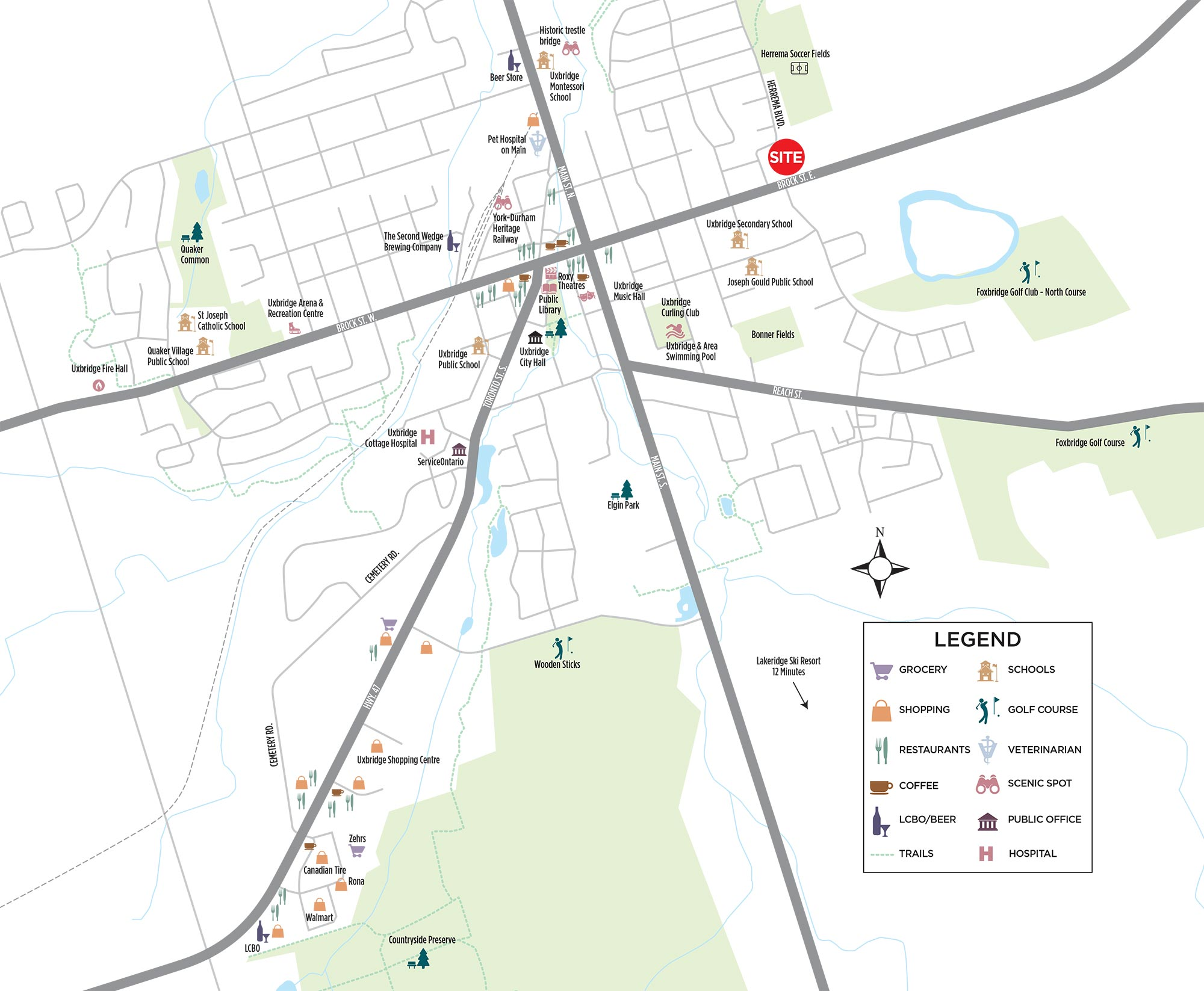 Town of Uxbridge Amenity Map